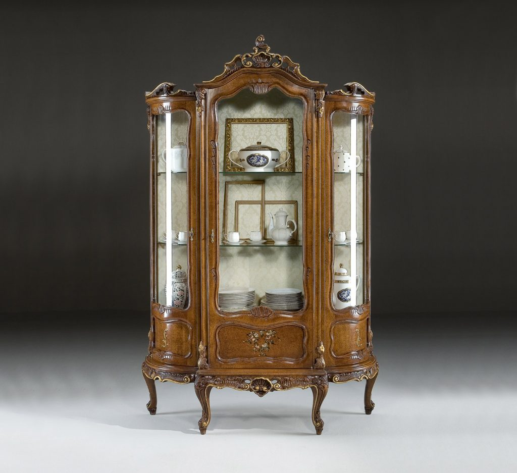 Baroque display cabinets