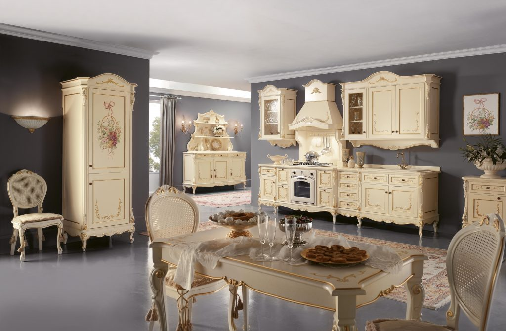 """Kitchen '800 """"Napoletana"""" lacquered"""