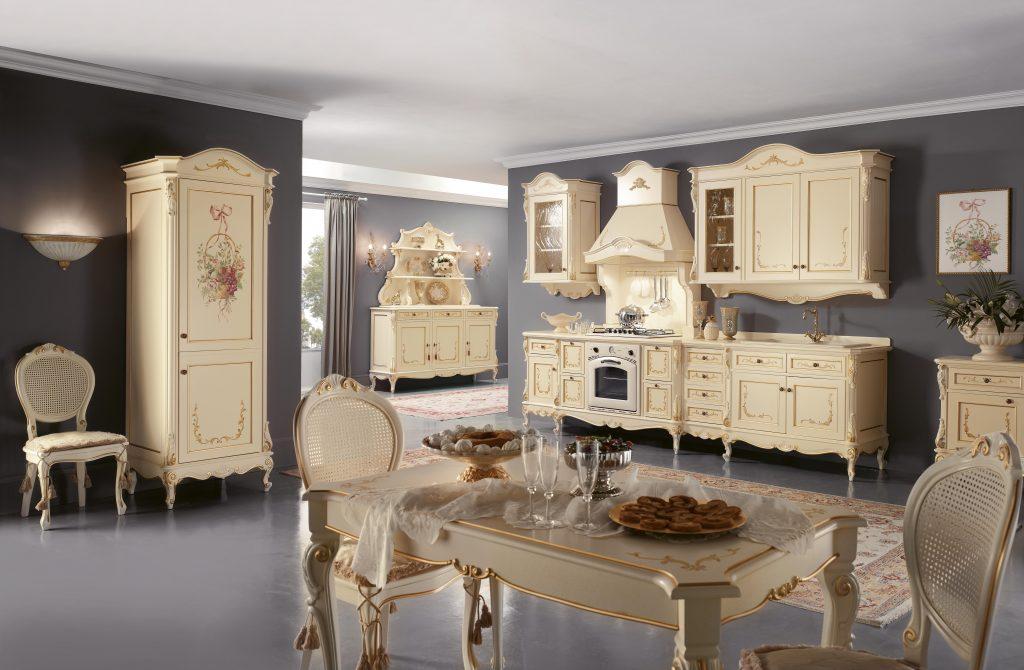 "Cucina '800 ""Napoletana"" laccata"