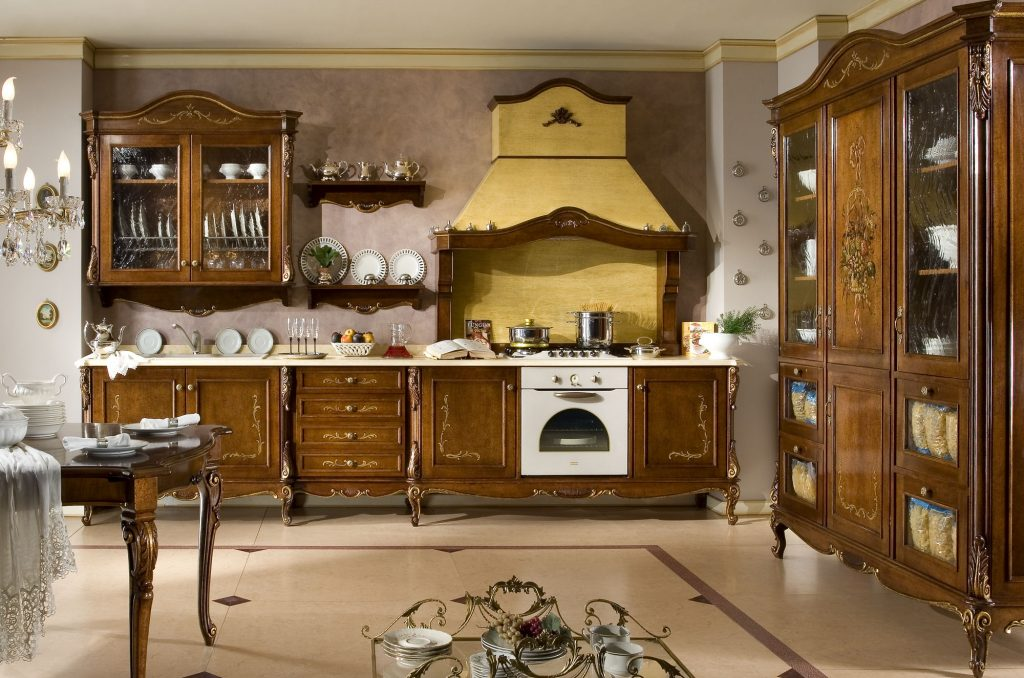 "Kitchen '800 ""Napoletana"" decorated"